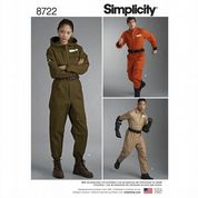 8722 Simplicity Pattern: Misses', Men's and Teens' Costumes